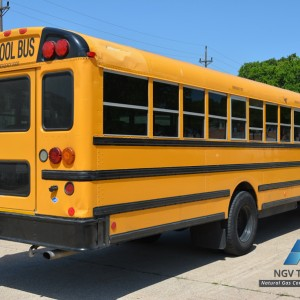 School bus cng conversion