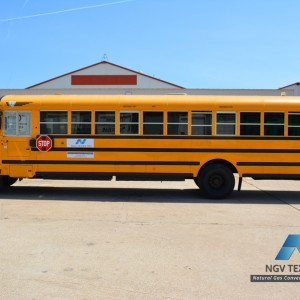 school bus converted to cng